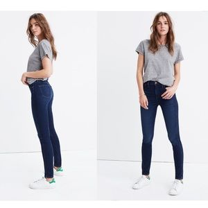 """Madewell 10"""" High Rise Skinny Blue Jeans Size 28"""